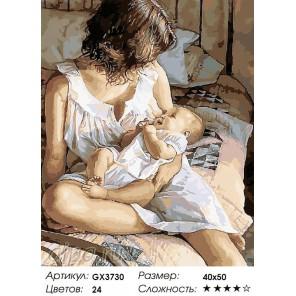 Материнская ласка Раскраска картина по номерам на холсте