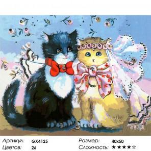 Свадьба кошек Раскраска картина по номерам на холсте