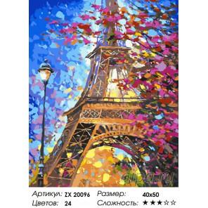 Краски весеннего Парижа Раскраска картина по номерам на холсте