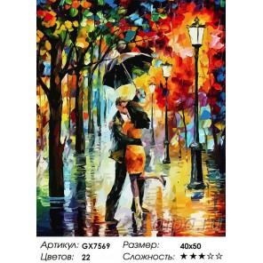 Вальс дождя Раскраска картина по номерам на холсте