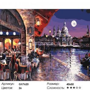 Кафе Барокко Раскраска картина по номерам на холсте