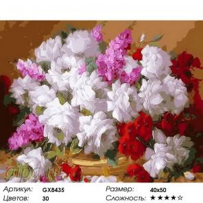 Цветы любви Раскраска картина по номерам на холсте
