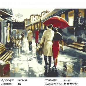 На вокзале Раскраска картина по номерам на холсте