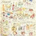Париж (Вокруг света) Бумага для скрапбукинга, кардмейкинга K&Company