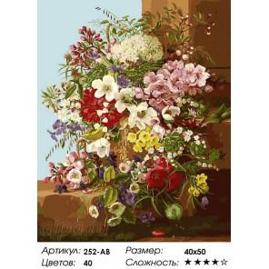 Количество цветов и сложность Свежие цветы Раскраска картина по номерам на холсте Белоснежка