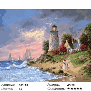 Перед штормом Раскраска ( картина ) по номерам на холсте Белоснежка