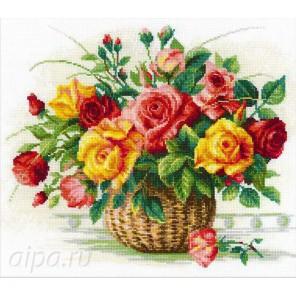 Корзина с розами Набор для вышивания Риолис