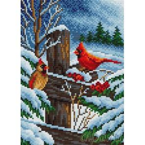 Зимний вечер Алмазная мозаика на магнитной основе