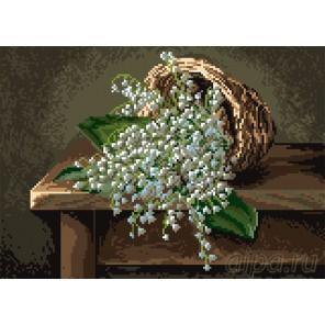 Благоухание весны Канва с рисунком для вышивки Матренин посад