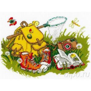 Отдых на траве Набор для вышивания Риолис