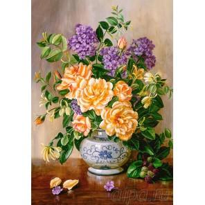 Нежные цветы в вазе Пазлы Castorland