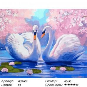 Лебединая нежность Раскраска картина по номерам на холсте