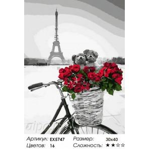 Количество цветов и сложность С любовью из Парижа Раскраска картина по номерам на холсте