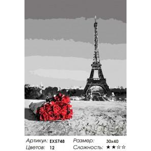 Букет из Парижа Раскраска картина по номерам на холсте