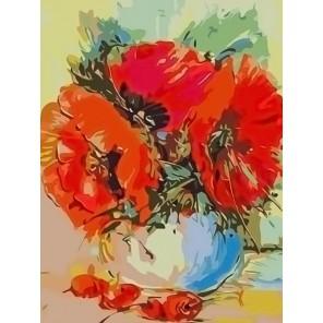 Маковый букет Раскраска - открытка по номерам с декором Color Kit