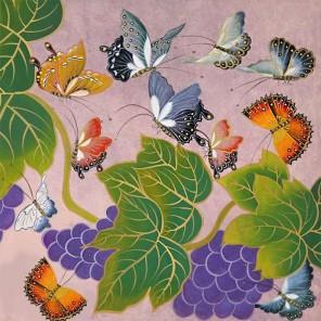 Чудо бабочки Раскраска - открытка по номерам с декором Color Kit