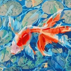 Рыбка желаний Раскраска - открытка по номерам с декором Color Kit
