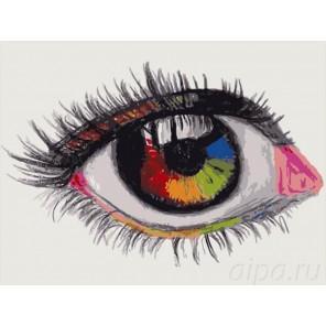 Мир своими глазами Раскраска картина по номерам на холсте Menglei