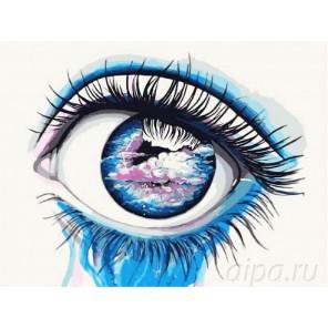 Небесный взгляд Раскраска картина по номерам на холсте Menglei