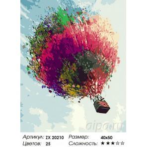Количество цветов и сложность Красочный шар Раскраска картина по номерам на холсте