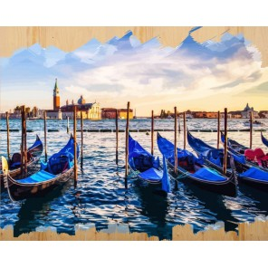 Набережная Венеции Картина по номерам на дереве