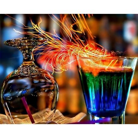 Огненные коктейли Алмазная картина-раскраска Color Kit