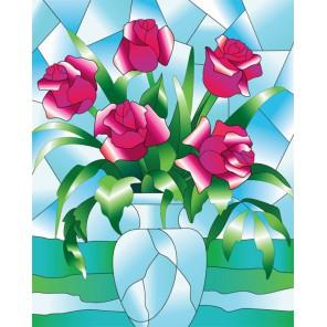 Розы Набор с рамкой для создания картины-витража Color Kit
