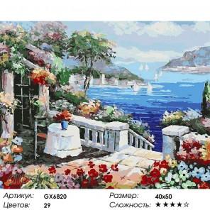 Равенна в цветах Раскраска картина по номерам на холсте