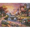Мост через реку Алмазная мозаика вышивка на подрамнике Painting Diamond