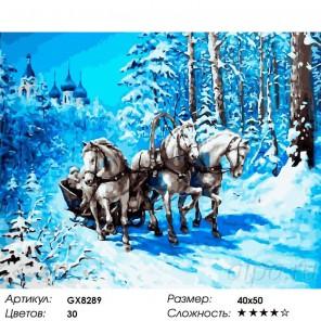 Количество цветов и сложность Русская зима Раскраска картина по номерам на холсте