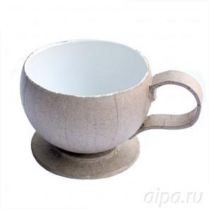 Чашка с блюдцем Заготовка из папье-маше объемная Decopatch