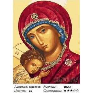 Икона Владимирской Богоматери Раскраска картина по номерам на холсте