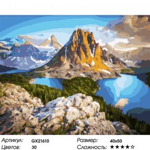 Национальный парк. Канада Раскраска картина по номерам на холсте