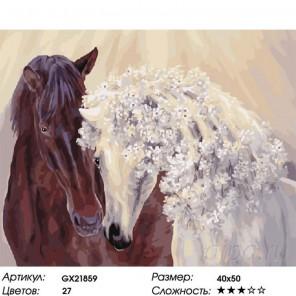 Весенние лошади Раскраска картина по номерам на холсте