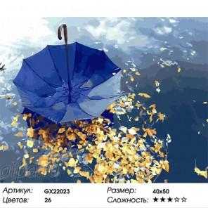 Количество цветов и сложность Зонтик на воде Раскраска картина по номерам на холсте
