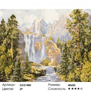 Количество цветов и сложность Горные вершины Раскраска картина по номерам на холсте