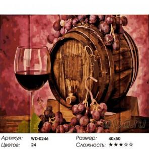 Итальянское вино Картина по номерам на дереве
