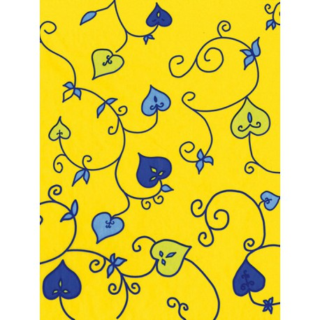 Листочки на желтом Бумага для декопатча Decopatch