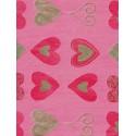 Орнамент сердечки на розовом Бумага для декопатча Decopatch