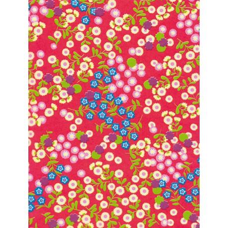 Мелкие цветочки на красном Бумага для декопатча Decopatch