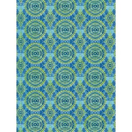 Орнамент зелено-синий Бумага для декопатча Decopatch