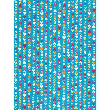 Мелкие сердечки на голубом Бумага для декопатча Decopatch