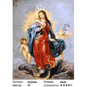 Дева Мария Раскраска картина по номерам на холсте
