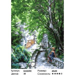 Горная дорога Раскраска картина по номерам на холсте