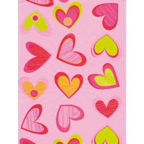 Сердца на розовом Бумага для декопатча Decopatch