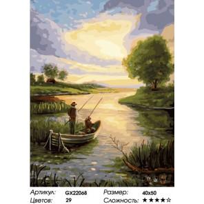 Количество цветов и сложность Рассвет над рекой Раскраска картина по номерам на холсте