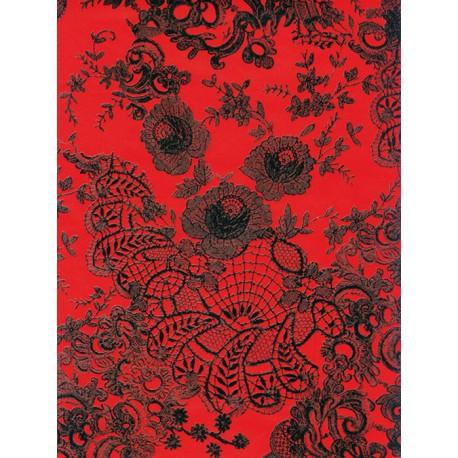Кружево красно-черное Бумага для декопатча Decopatch