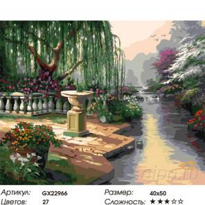Цветущий уголок Раскраска картина по номерам на холсте