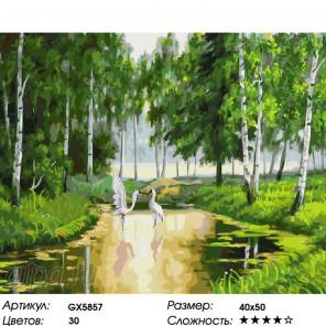 Количество цветов и сложность Танец журавлей Раскраска картина по номерам на холсте