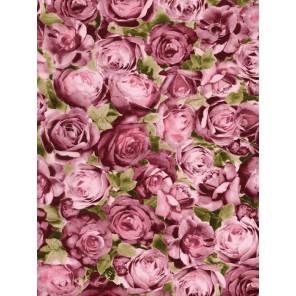 Розовые розы на мадженте Бумага для декопатча Decopatch